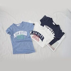Other - White Michigan Boy Tee